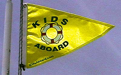 Kids Aboard Safety Flag